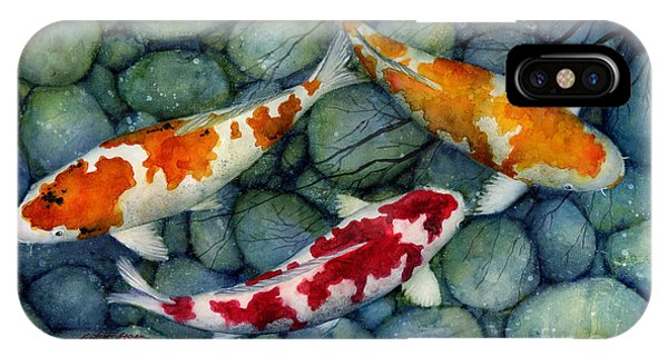 Fish iPhone Case - Serenity Koi by Hailey E Herrera