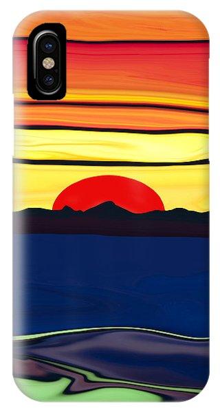 Serenity Lake Sunset IPhone Case