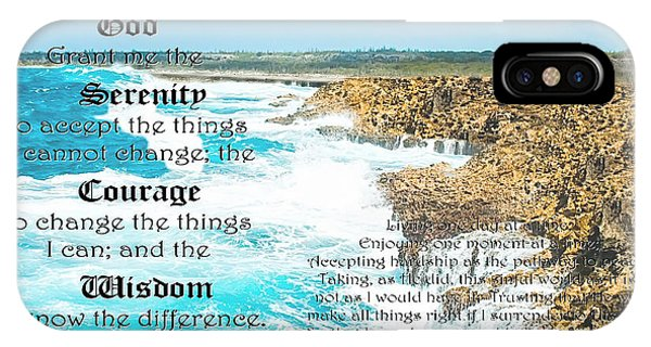 Serenity Prayer For Turbulent Times IPhone Case