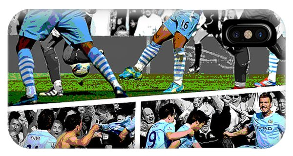 Sports iPhone Case - Sergio Aguero Goal Vs Qpr by Pro Prints