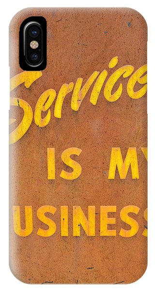 Service Is My Business IPhone Case