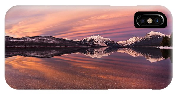 Setting On Glacier IPhone Case