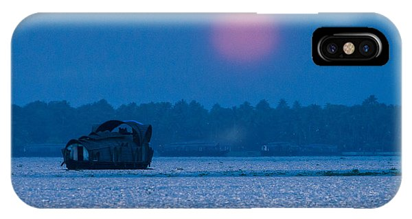 Setting Sun And Boat IPhone Case