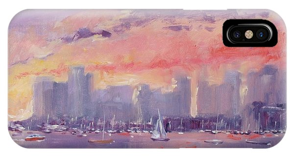 Setting Sun Over Boston  IPhone Case