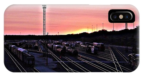 Setting Sun Shining Rails Phone Case by Elizabeth Sullivan
