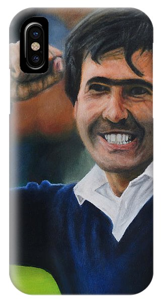 Seve Ballesteros Oil On Canvas IPhone Case