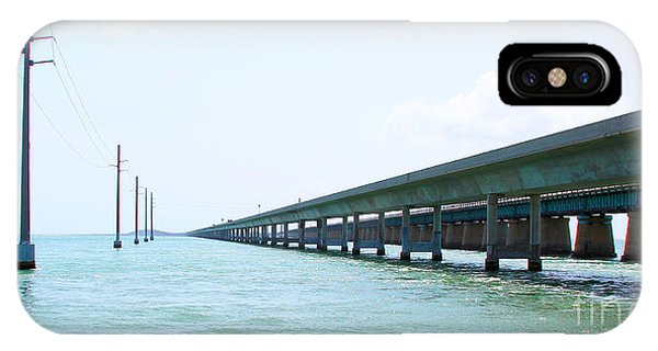 Tiki Bar iPhone Case - Seven Mile Bridge by Carey Chen