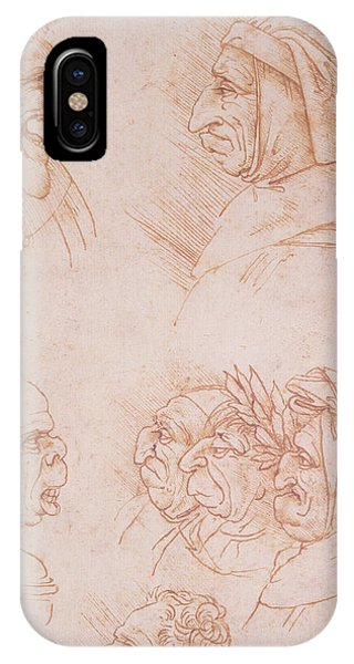 Seven Studies Of Grotesque Faces IPhone Case