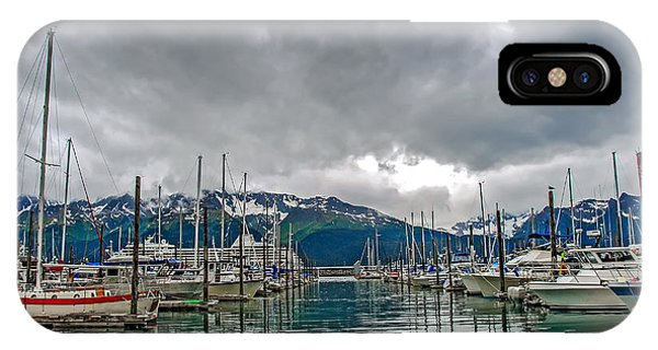 Seward Harbour Alaska IPhone Case