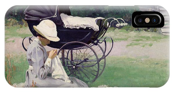 Sewing In The Sun, 1913 IPhone Case