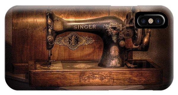 Savad iPhone Case - Sewing Machine  - Singer  by Mike Savad