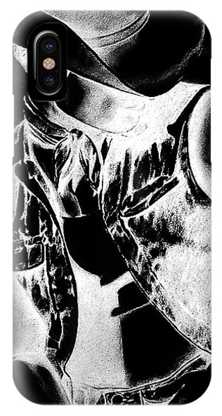 Print With Black And White Sexy Cowboy  IPhone Case