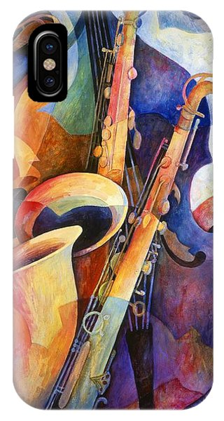 Musical iPhone Case - Sexy Sax by Susanne Clark