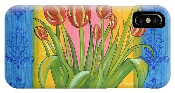 Shabby Chic Tulips IPhone Case