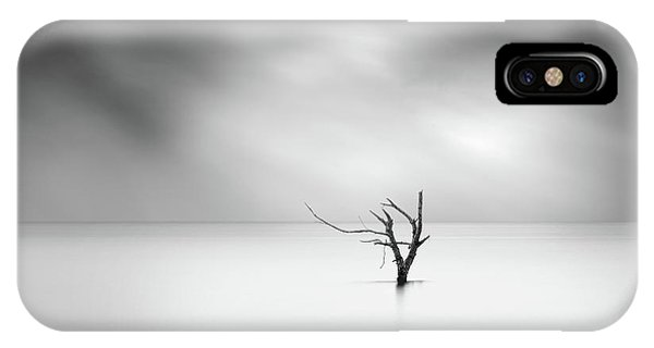 Simple Landscape iPhone Case - Shades Of Gray by George Digalakis