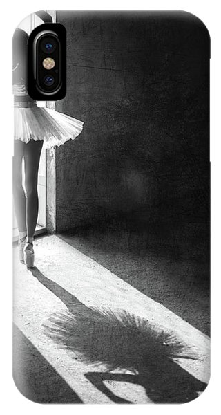 Ballerina iPhone Case - Shadow Dance by Sebastian Kisworo