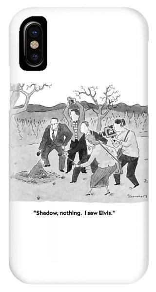 Shadow, Nothing.  I Saw Elvis IPhone Case