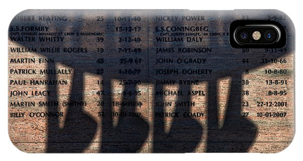 Dunmore East iPhone Case - Shadow Of The Fishermens Memorial by Panoramic Images