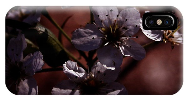 Shadowed Flowers IPhone Case