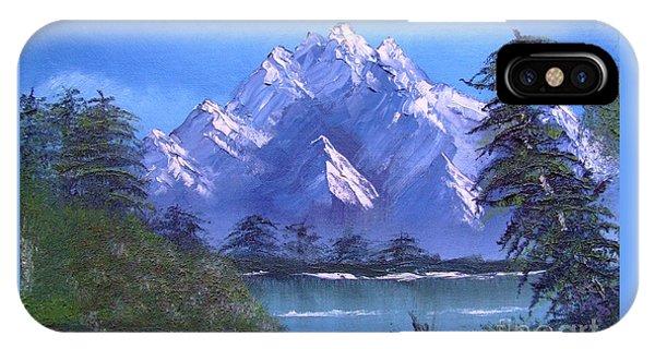 Shadowed Mountain Lake IPhone Case