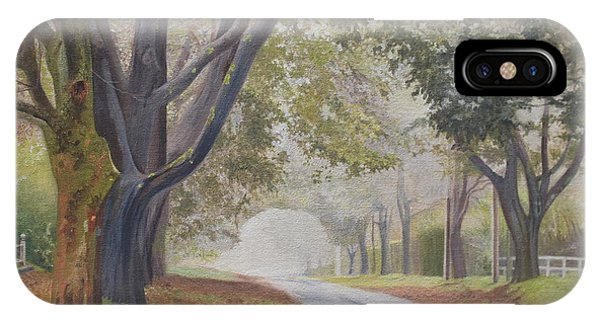 Shadow And Fog Down Beautiful Atlantic Avenue IPhone Case