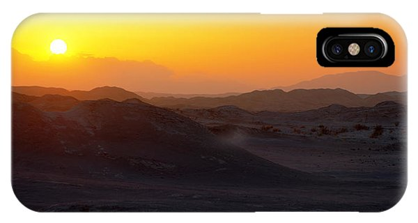 Orange Sunset iPhone Case - Shadows by Chad Dutson