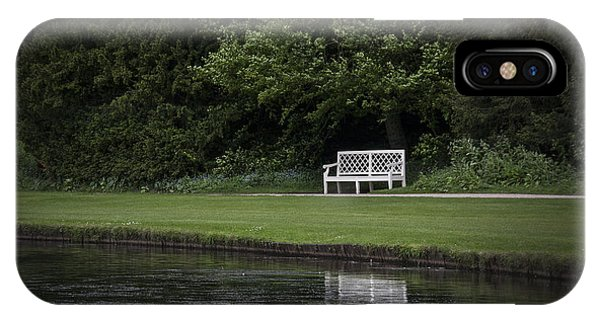 Park Bench iPhone Case - Shadows Of Time by Evelina Kremsdorf