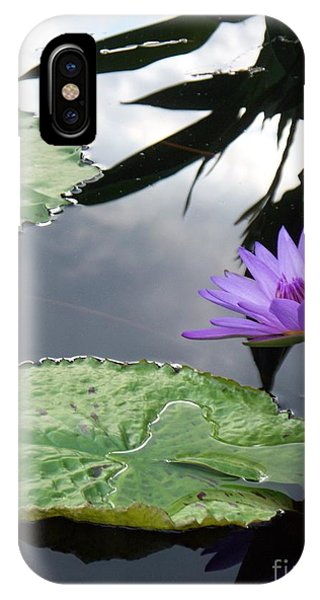Shadows On A Lily Pond IPhone Case