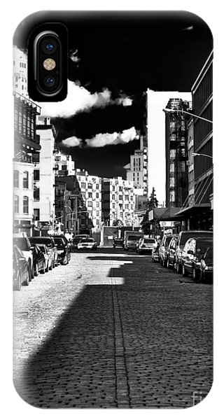 Shadows On The Street Phone Case by John Rizzuto