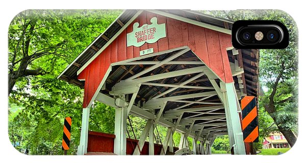Somerset County iPhone Case - Shafer Covered Bridge by Adam Jewell