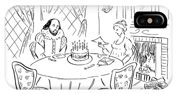 Shakespeare's Unimpressed Wife Reads A Piece IPhone Case