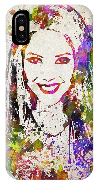 Shakira iPhone Case - Shakira In Color by Aged Pixel