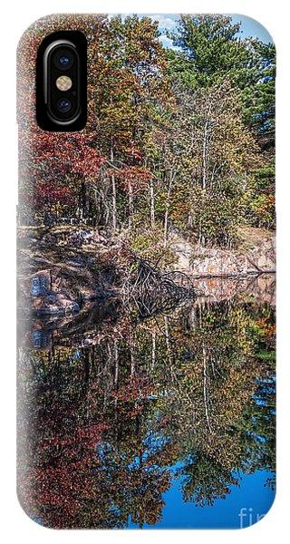 Shambeau Park Fall Reflection IPhone Case