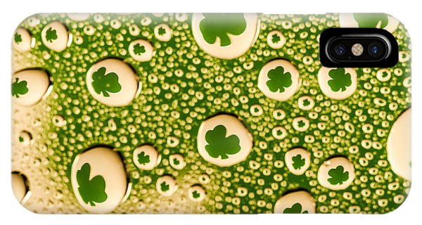 St. Patricks Day iPhone Case - Shamrock Drops by Teri Virbickis