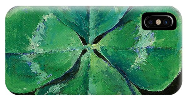 Celtics iPhone Case - Shamrock by Michael Creese