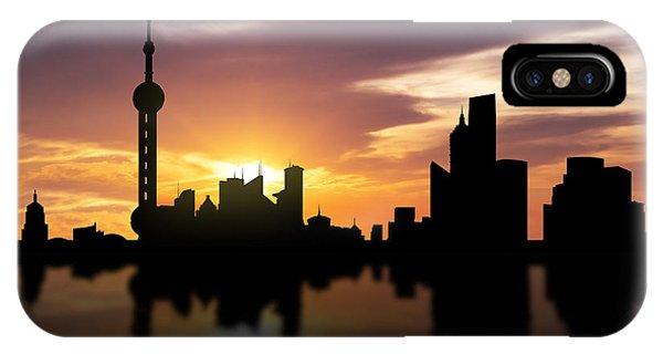 Shanghai China Sunset Skyline  IPhone Case