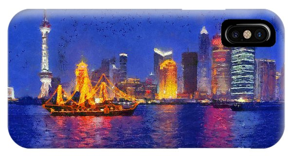 Shanghai During Dusk Time IPhone Case