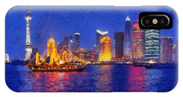 Shanghai During Dusk Time IPhone Case