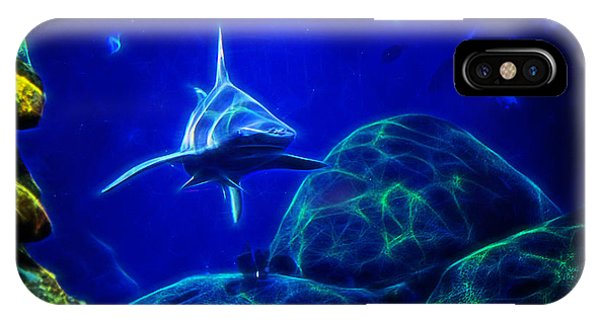 Shark Hunting Abstract IPhone Case