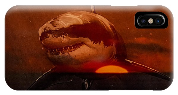 Shark In A Sunset IPhone Case
