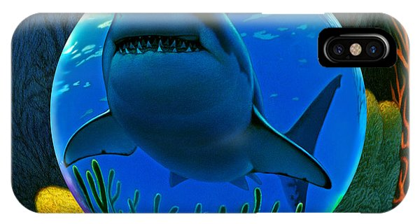 Reef iPhone Case - Shark World  by Robin Moline