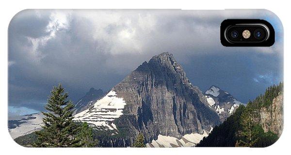 Sharp Peak Into Clouds IPhone Case