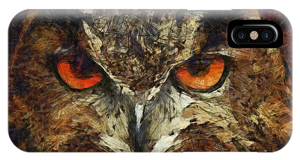 Sharpie Owl IPhone Case