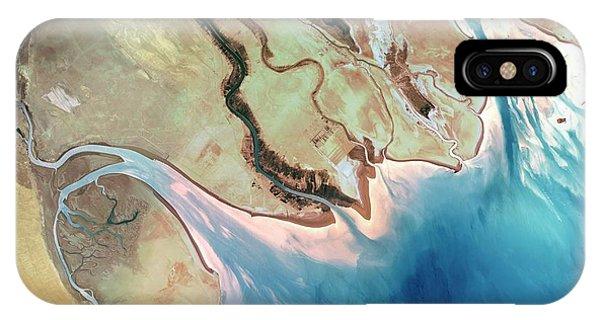 Delta iPhone Case - Shatt Al-arab Delta by Planetobserver/science Photo Library