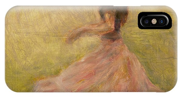 She Dances With The Rain IPhone Case