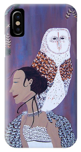 She Flies With The Owls IPhone Case