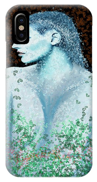 She iPhone Case - She In Blue by Angela Stanton