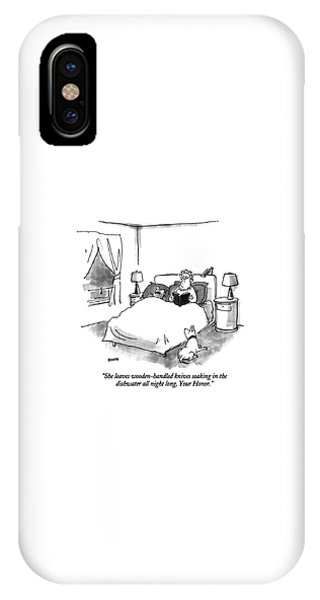 She Leaves Wooden-handled Knives Soaking IPhone Case