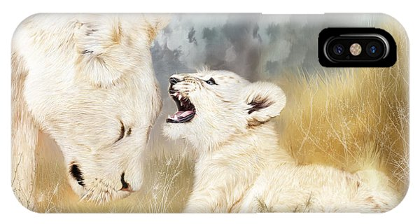 African Lion Art iPhone Case - She Listens by Carol Cavalaris