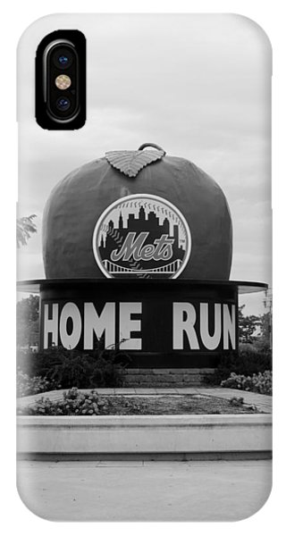 Shea Stadium Home Run Apple In Black And White IPhone Case